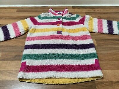 Girls Joules Fleece Striped Top Jumper  Age 7 Years Excellent Used Condition