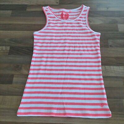 Brand New Next Girls Summer Bright Coloured Striped Vest Top Age 10 Years