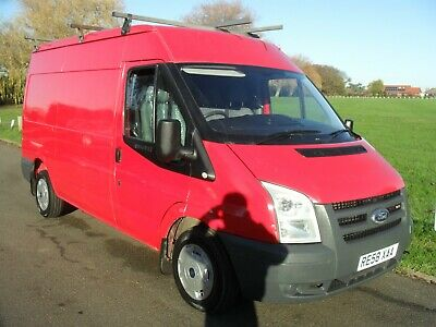 58Plate Ford Transit Mwb High Roof 2.2 Fwd Red One Owner No Vat To Pay