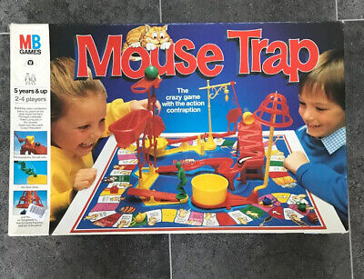 Vintage Mouse Trap Board Game MB Games from 1986 Classic Christmas fun