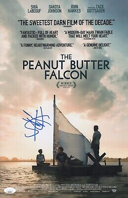 SHIA LABEOUF Signed THE PEANUT BUTTER FALCON 11x17 Photo Autograph JSA COA