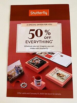 Shutterfly Coupon for 50% Everything Coupon Expires 1/31/2020