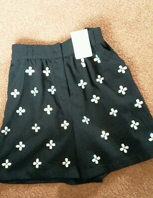 Next sparkly flower party shorts age 9 bnwt
