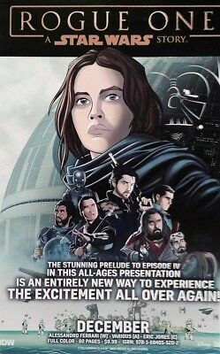 """Rogue One A Star Wars Story Promo Poster 11"""" X 17""""  IDW NYCC 2017 Exclusive"""