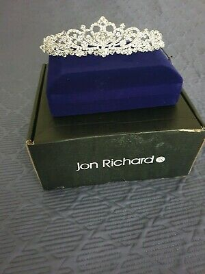 Jon Richard Silver Diamante Tiara Wedding Prom Party Accessory Gorgeous RRP £45