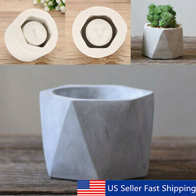 3D Vase Craft Mould DIY Cement Planter Silicone Mold molds Pot Flower Concr F0S8