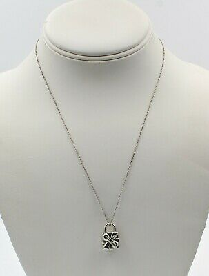 Tiffany & Co Sterling Silver Gift Box Pendant And Necklace 925 No Resv #7118-3