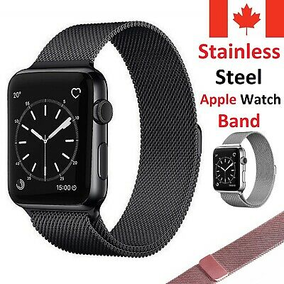 Magnetic Stainless Milanese Band Loop Strap for Apple Watch Series 1 2 3 4 5
