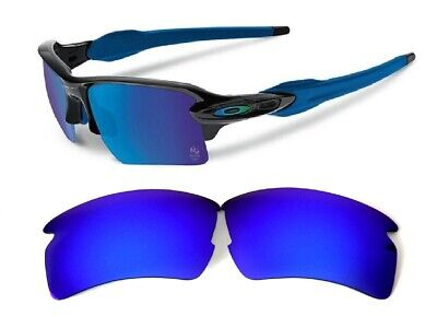 Galaxy Replacement Lenses For Oakley Flak 2.0 Sunglasses Blue Polarized