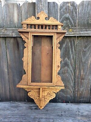 Antique American Wall Hanging Kitchen Clock Case Project
