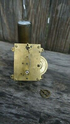 antique gilbert clock co. weight driven wall regulator movement