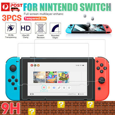 3 Packs Nintendo Switch Screen Protector 9H Slim Tempered Glass Cover Guard Film