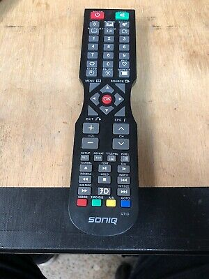 SONIQ TV Remote Control QT1D - NO SETUP NEEDED