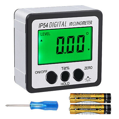 0-360° Digital Inclinometer Level Box Protractor Angle Finder Bevel Gauge Magnet