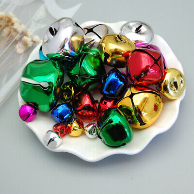300Pcs Colored Christmas Bell Mini Jingle Bells Crafts Xmas Home Party DIY Decor