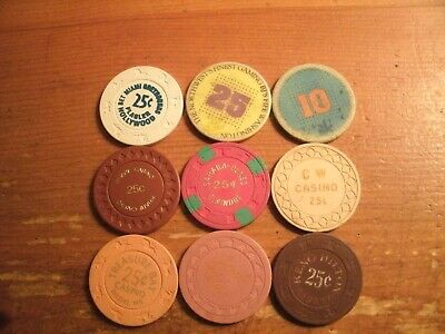 9 Different Fractional Casino Chips