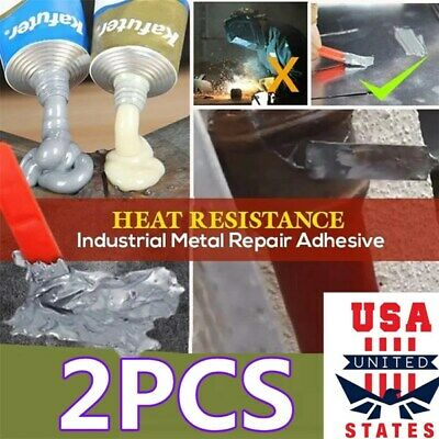 2X Industrial Heat Resistance Cold Weld Metal Repair Paste Scratch Repair A&B ag