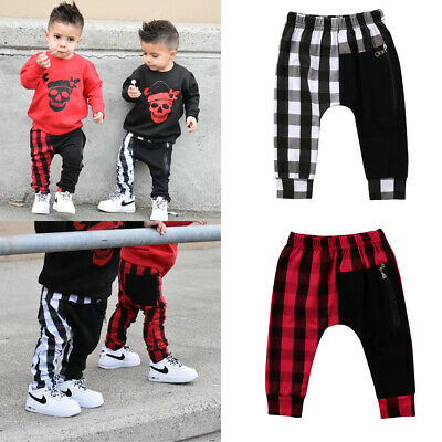 Toddler Kids Baby Boys Harem Pants Trousers Sports Stretchy Legging Pants 1-6Y