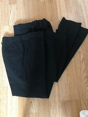2 X Pairs Of M&S Boys School Trousers Age 12-13