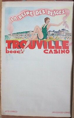 Cartel Antigua Original Trouville Casino Playa el Reina Playas Arte