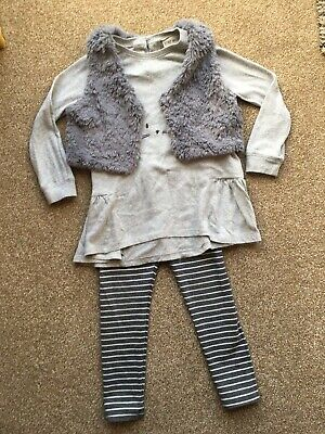 Girls 3-4 years Top Leggings Gilet Outfit Set from NEXT