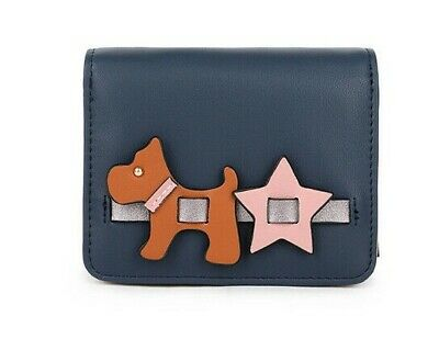 Long & Son Navy Blue Pink Dog Star Purse Wallet New 12304