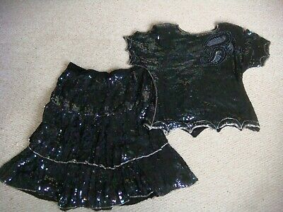 "Vintage 1980's ""Serenade"" Sequin Top & Skirt Size M"