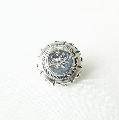 Old antique Victorian low-grade silver small sweetheart brooch