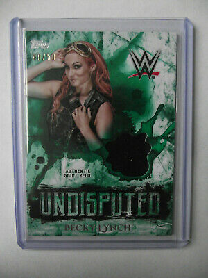 2018 Topps WWE Undisputed - Becky Lynch Shirt Relic Card 49/50