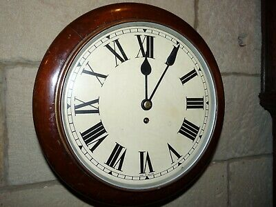 "Fusee  , 12"" English dial wall clock .  Office school Railway .kitchen ,"