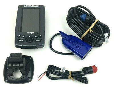 Lowrance Hook-4 Sonar/GPS Mid/High/Downscan Fishfinder with HDI Transducer