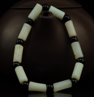 Pure Natural Handwork Xiu jade Bead Stretch Buddha beads jade Bracelet /017A