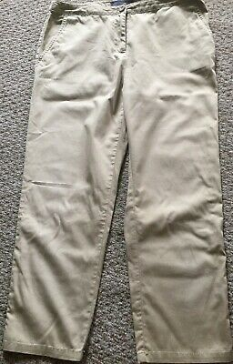 Marks and Spencer's ladies stone coloured chino style cotton crop trousers