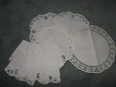 Blank Needlepoint Canvas Doilies 100% Cotton Lot Of12
