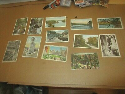 Early 1900's to 1930's New York Postcard Lot (12) Watkins Glen Times Building