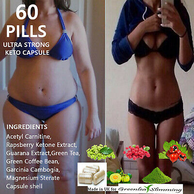 60 x pills Ultra Strong Keto Capsule Diet Pure Weight loss supplement fat burn