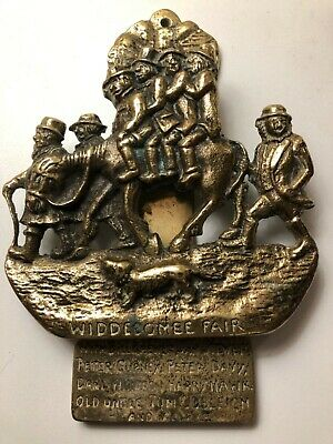 Used vintage Brass Widdecombe Fair Door Knocker