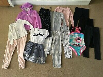 Bundle of Girls Clothes, Age 7 Years, 13 Items, Mostly Next