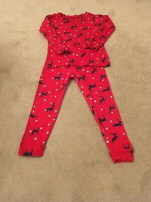 Boys Gap Christmas Pyjamas Age 2 Red with Reindeer excellent condition