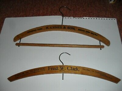 Two, really nice, vintage wooden hangers. About 1930's/40's.