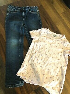 Girls Red Herring Jeans & Next top age 9 years
