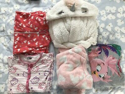 Girls Dressing Gown And All In One Bundle 5-6