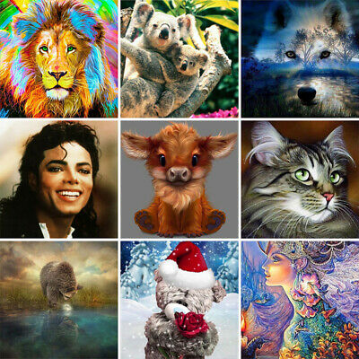 DIY 5D Full Drill Animals Diamond Painting Kits Home Embroidery Decors Gifts