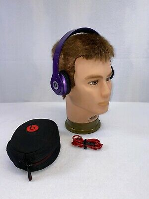 Beats by Dr. Dre Solo HD Headband Headphones - Purple RARE PRE APPLE ERA PURPLE