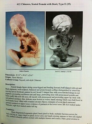Pre Columbian Chinesco Seated Female with Bowl Nayarit