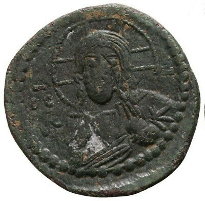 Follis * Ancient Byzantine * Jesus Christ * Ae Bronze * Great condition