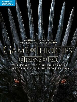 Game of Thrones: The Complete Season 8 BLU-RAY + DIGITAL + SLIPCOVER -BRAND NEW