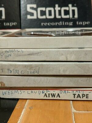 "10 reels of 7""  pre-recorded reel-to-reel tapes"