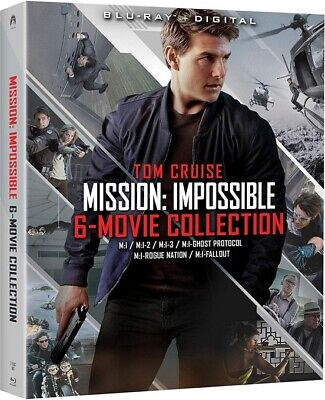 Mission:Impossible 6-Movie Collection (Blu-Ray + Digital) w/ Slip Cover - New