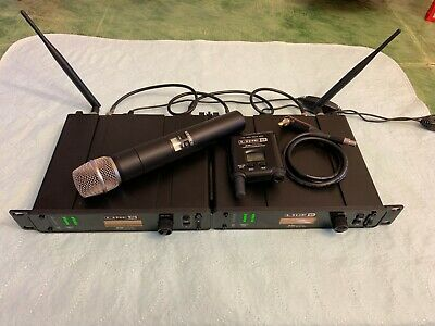 2 Receivers Line 6 XD-V75 Wireless Professional Microphone